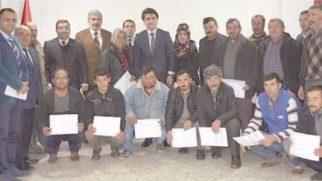 Çobanlar eğitimlerini tamamladı sertifikalarını aldı