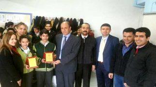 Ekinci O.O.'da TEOG Türkiye Birincisine: Plaket…