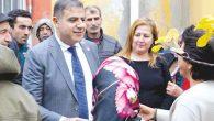 CHP'LİLERE kurban kesilerek karşılama
