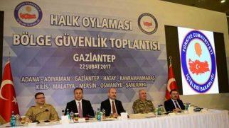 Asayiş bölge toplantısı Gaziantep'te