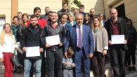Samandağ'da 28 kursiyere sertifika