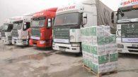 Suriye'ye 66 Tır'lık yardım malzemesi …
