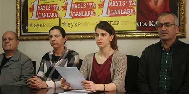 """SYKP: 1 Mayıs, Ortadoğu'da Akıtılan Kana  """"Dur"""" Deme Günü"""