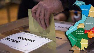 Antakya  mahalleleri (eski köy)  referandum sonucu