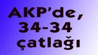 AKP'de, 34-34 çatlağı