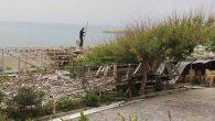 Kaçak yapı  yıkıldı