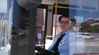 Halk otobüslerinde  kadın şoför