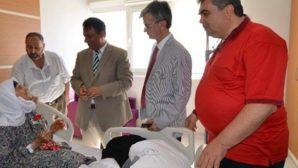 Hatay Devlet Hastanesi'ne sürpriz ziyaret