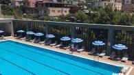 Spor Kompleksi açık yüzme havuzu açıldı