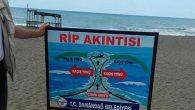 Sahile uyarıcı levha