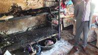Kaymakam'dan yangın  mağduru ailelere  destek …