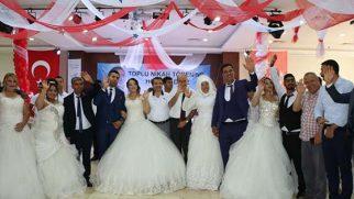 Hatay BŞB desteğiyle toplu nikah