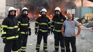 HBB itfaiyesinden  yangına hızlı müdahale