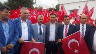 AKP Reyhanlı'da bayrak dağıttı