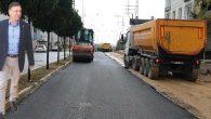 MKÜ kampüs yoluna asfalt
