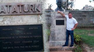Küba'da Atatürk Büstü