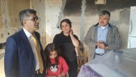 Ahmet Vardar'ın evi yandı