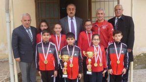 Defne Ortaokul Jimnastik Şampiyonu Okullar: