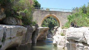Batıayaz köprüsü çöktü