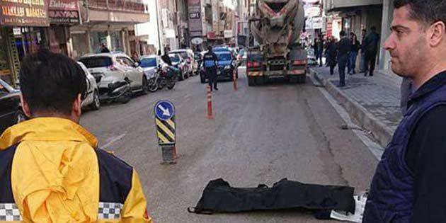 Samandağ  ilçe merkezinde feci kaza
