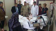 Kaymakam, yaralı askerleri ziyaret etti