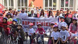 BORAN bisikletliler 23 Nisan için pedal çevirdi