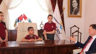 BŞB Sembolik Başkanı Samet Sertkaya…