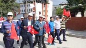 Samandağ'da Gençlik Yürüyüşü