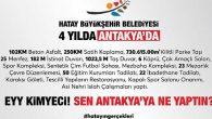 Hatay BŞB adına ilçe belediyelerine taşlamalar…