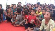 Savaş mağduru çocuklara çizgi film keyfi