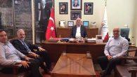 Başkan Dingil, konuklarını makamında ağırladı …