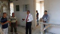 Orhanlı Ortaokulu inşaatı sürüyor