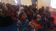 Savaş mağduru çocuklarla  coşkulu bayram kutlaması