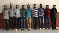 Afrin'de yakalanan 9 terörist