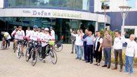 Bisikletliler Ankara yolunda