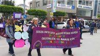 İskenderun'da kadınlar sokaktaydı