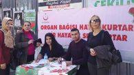 Palladıum'da organ bağışı standı