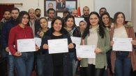 Samandağ'da sertifika töreni