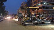 Atatürk Caddesi'nde gece gündüz çalışma …