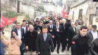 Savaş, destekçisi binlerle Antakya sokaklarında…