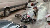 Yollardaki çukurların neden olduğu kaza