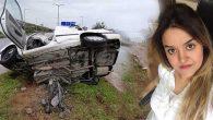 Kadın sürücü öldü,  oğlu kurtuldu