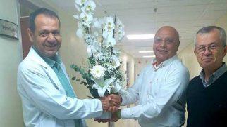 Dr. Boz'a çiçekli uğurlama