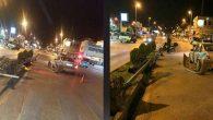 Antakya'nın en işlek caddesinde 2 araç çarpıştı