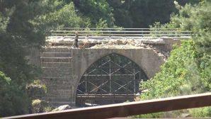 Batıayaz köprüsünde restorasyona devam