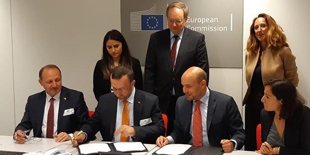 Brüksel'deki imza ile katkı 5 İl'e