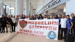 Hatayspor'a havalimanında karşılama