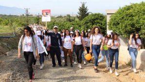 Samandağ'da Lösevli'lere  Destek Yürüyüşü