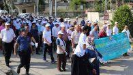 Habib-i Neccar'ı anma yürüyüşüne yoğun katılım …