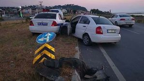 Arsuz yolunda kaza